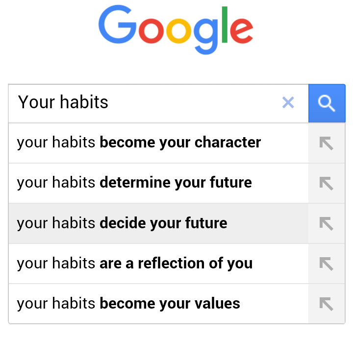 Google your habits